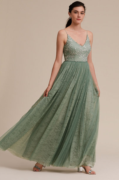Adrianna Papell Aqua Mist Cluny Dress | BHLDN