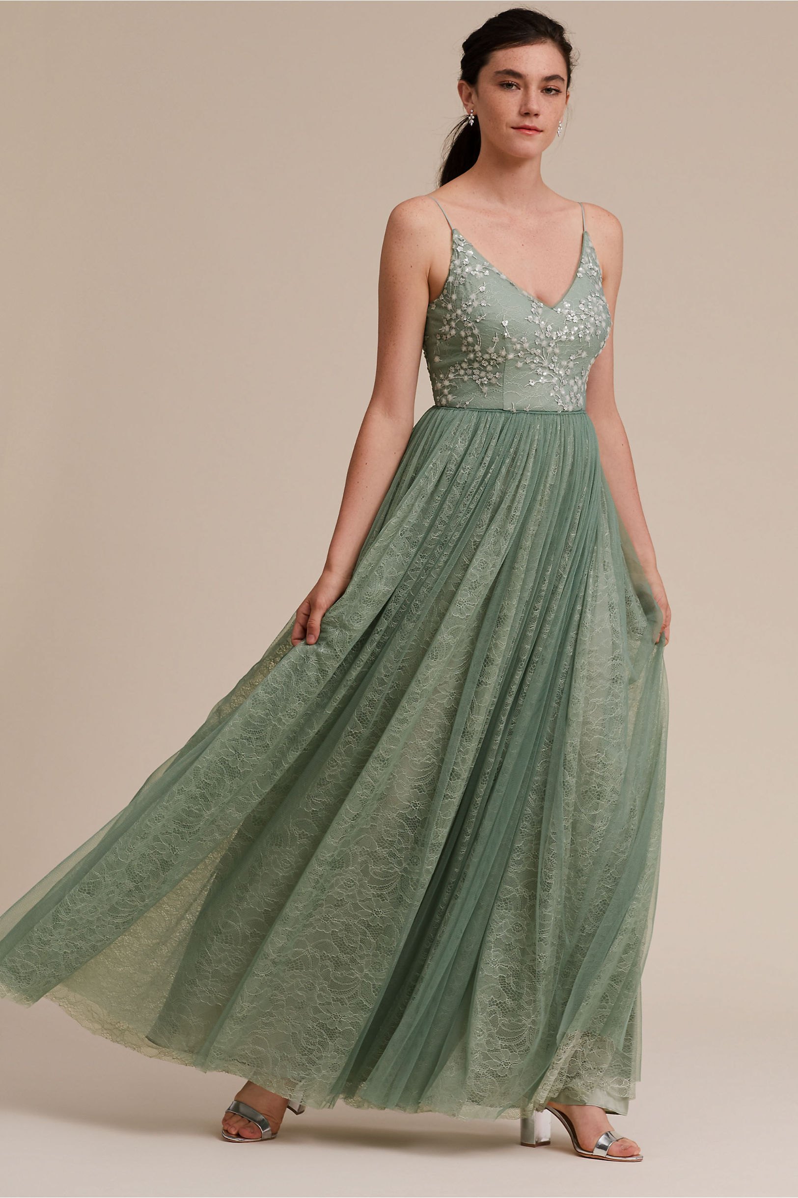Cluny Dress Aqua Mist in Sale | BHLDN