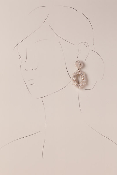 St. Erasmus Silver Talise Hoop Earrings | BHLDN
