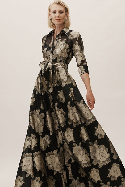 Gerda Dress Black/Gold in Bridesmaids & Bridal Party | BHLDN
