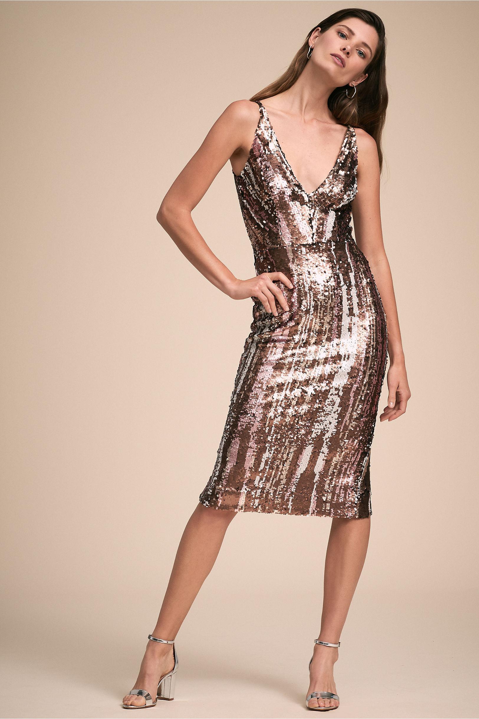 Dress the Population Matte Bronze Multi Margo Dress  2f3e2c16f