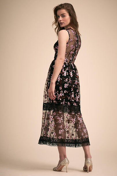 Bronx & Banco Black/Pink Sakura Dress | BHLDN