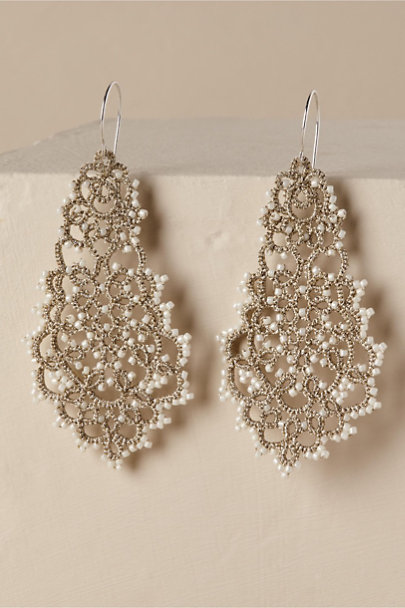 Lorina Balteau Silver Jacenia Chandelier Earrings | BHLDN