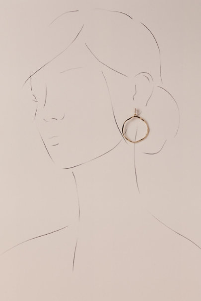 Untamed Petals Gold Jobelle Hoop Earrings | BHLDN