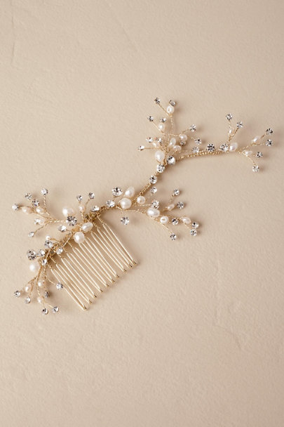 AA Bridal Gold Jori Hair Comb | BHLDN