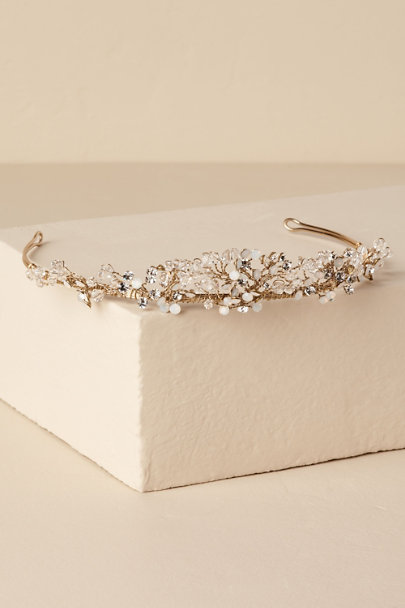 Untamed Petals Gold Kallan Tiara | BHLDN