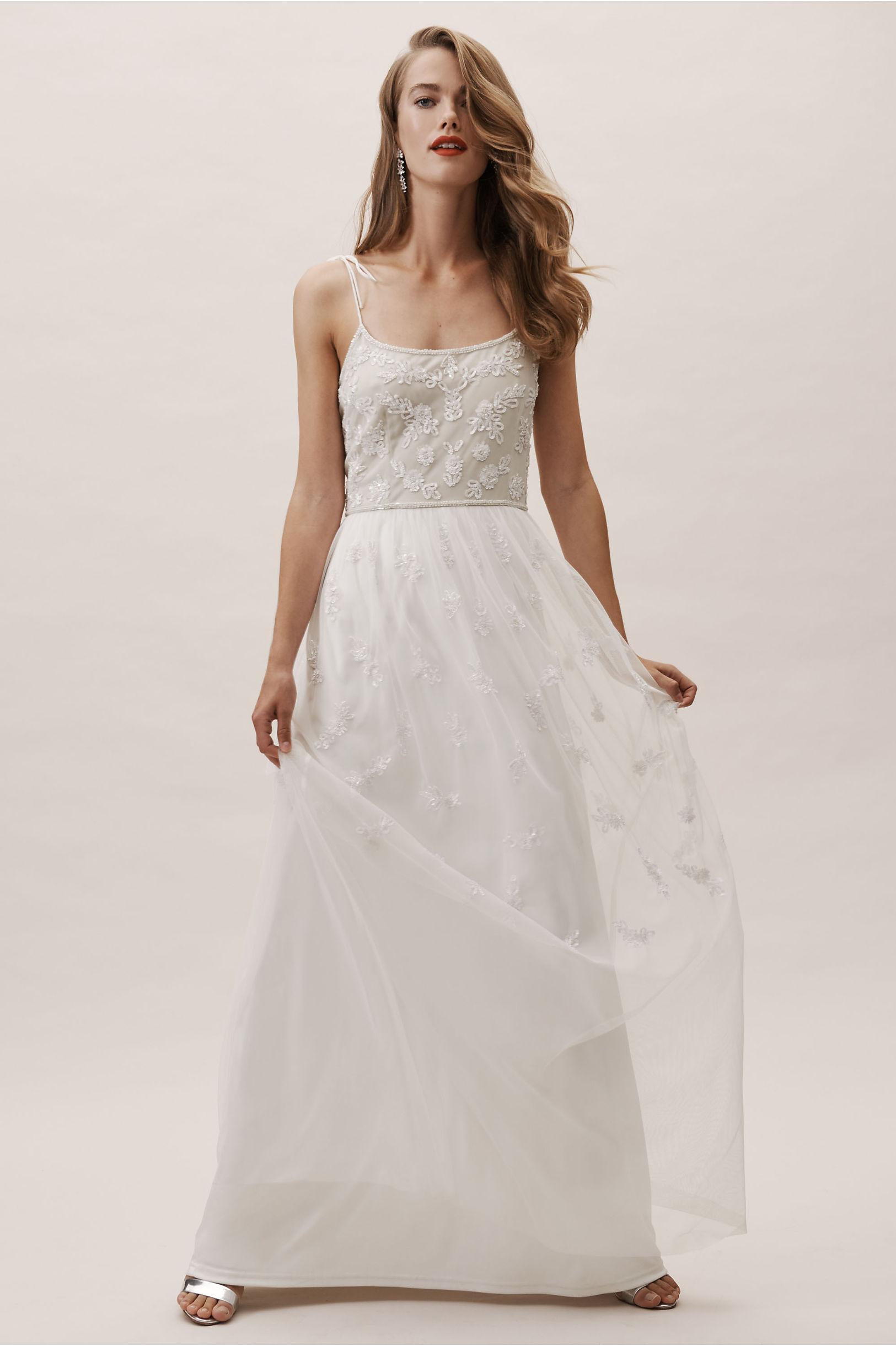 Marshall Dress Ivory/Nude in Bride   BHLDN