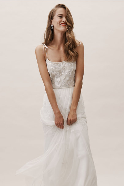 Adrianna Papell Ivory/Nude Marshall Dress | BHLDN