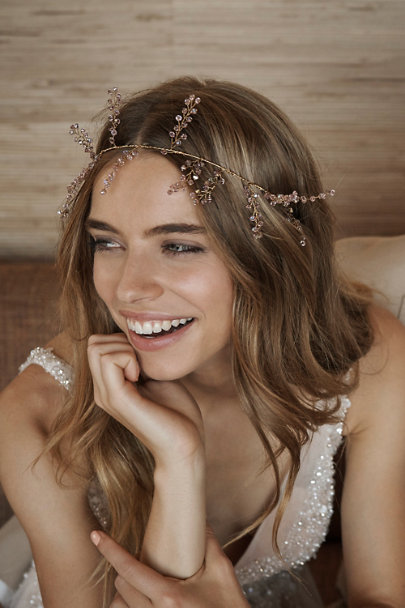 Melinda Rose Gold Heather Crown | BHLDN
