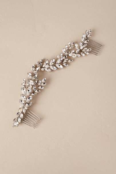 Brides & Hairpins Silver Abrielle Hair Comb | BHLDN