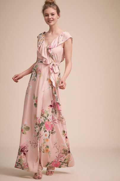 Plum Pretty Sugar Pink Blair Wrap Dress | BHLDN