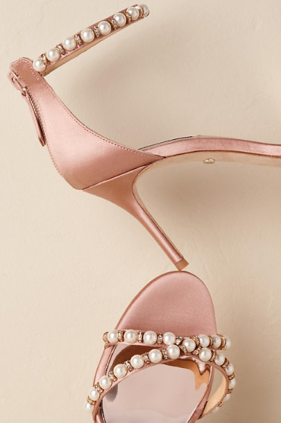 Badgley Mischka Pink Hannah Heels | BHLDN