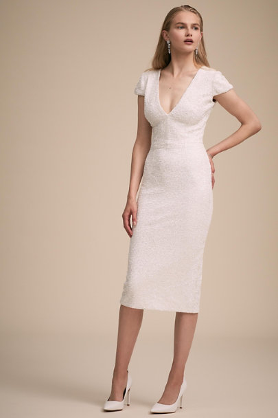 Dress the Population Ivory Allison Dress | BHLDN