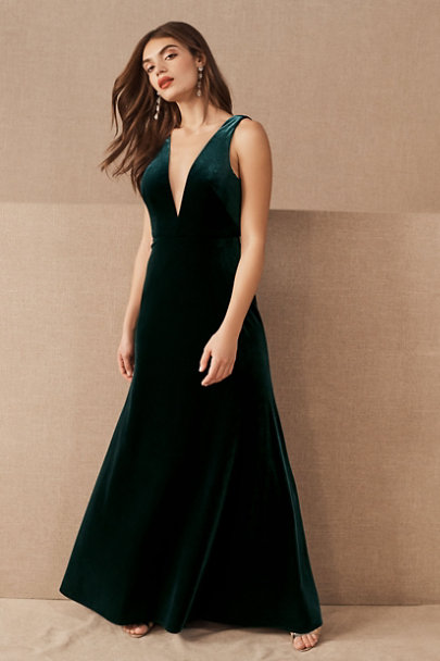 Jenny Yoo Emerald Logan Velvet Dress | BHLDN
