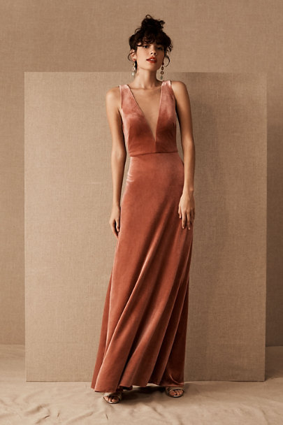 Jenny Yoo English Rose Logan Velvet Dress | BHLDN