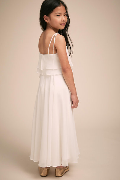 Jenny Yoo Winter White Penny Dress | BHLDN