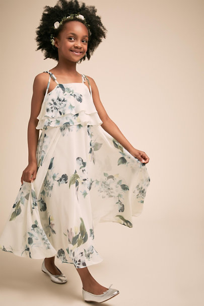 Jenny Yoo Ohana Blue Multi Penny Dress | BHLDN