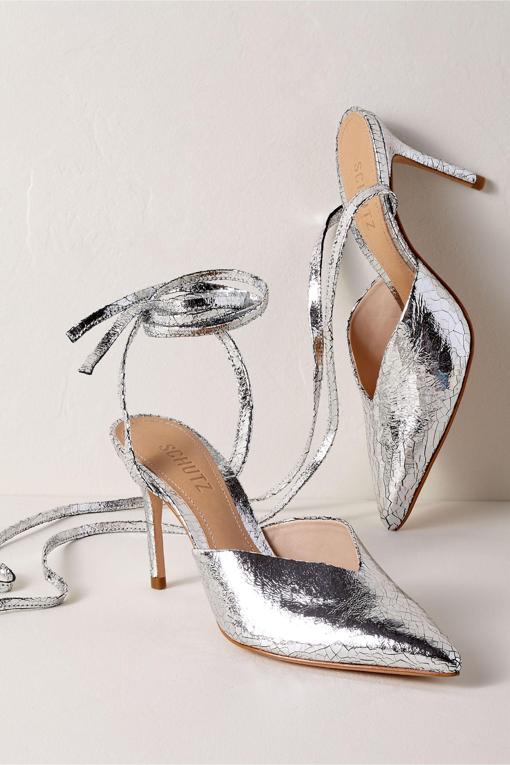 dfd265742a9 Schutz Naiana Heels Silver in Bride