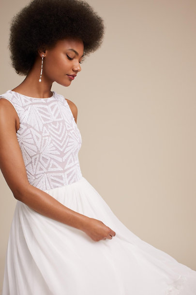 Dress the Population White Cathy Dress | BHLDN