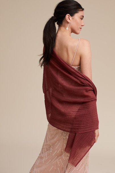 BHLDN Cinnamon Rose Rue Pashmina | BHLDN