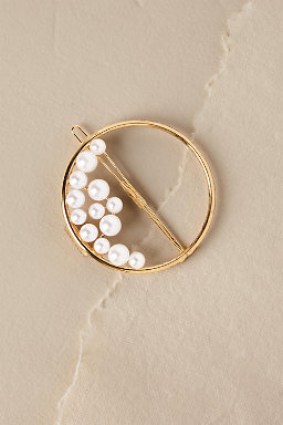 Ocean Pearl Ring Barrette
