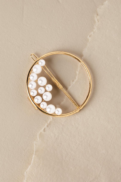 LELET NY Gold Ocean Pearl Ring Barrette | BHLDN