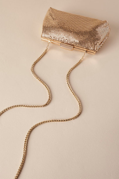 Adrianna Papell Gold Ora Clutch | BHLDN
