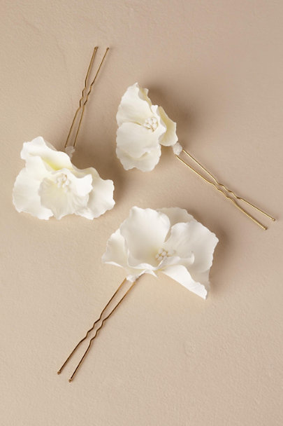 Luna Bea Ivory Maria Hair Pins | BHLDN