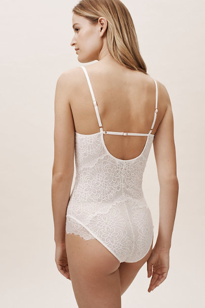 Homebodii Ivory Emilia Bodysuit | BHLDN