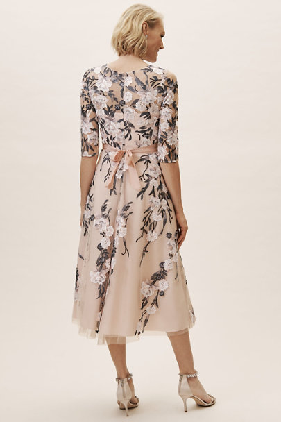 BHLDN Blush/Navy Multi Linden Dress | BHLDN