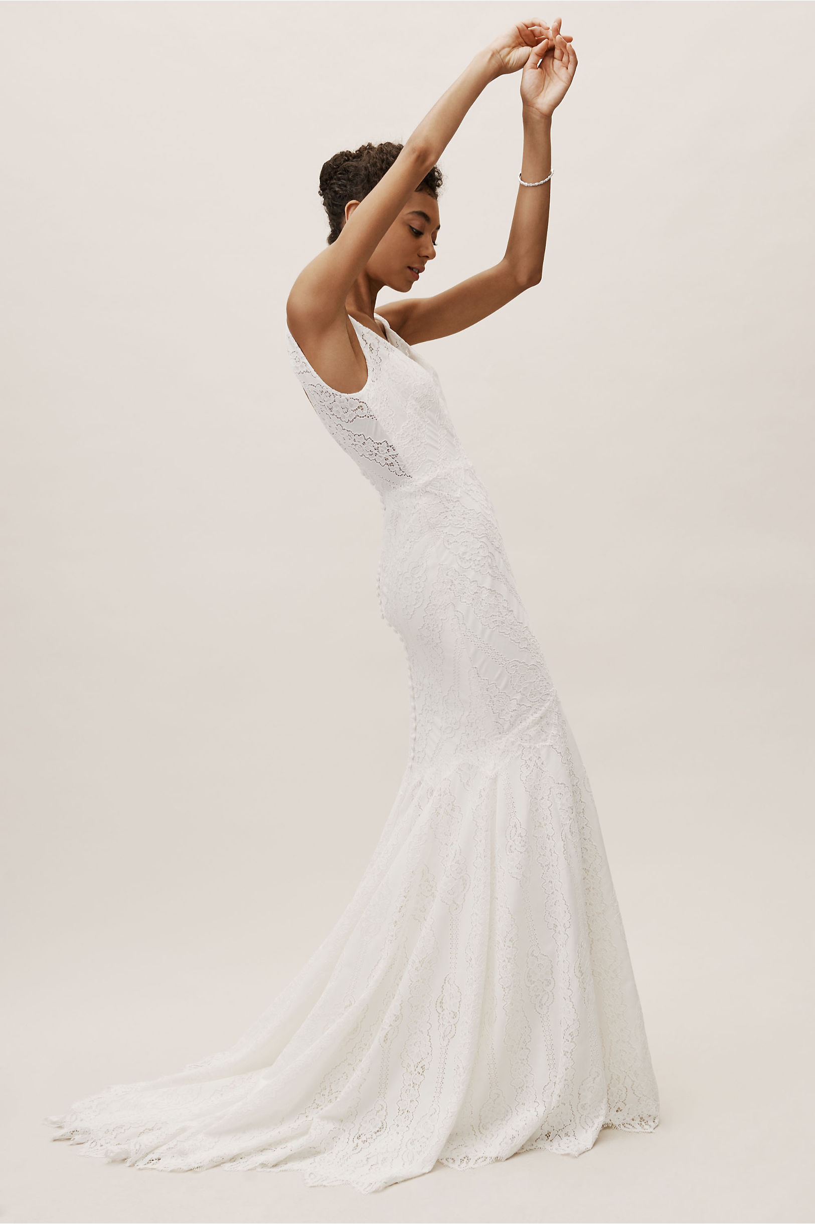 Lace Be A Lady Gown Ivory in New | BHLDN