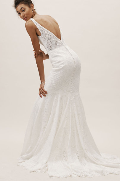 Whispers & Echoes Ivory Lace Be A Lady Gown | BHLDN