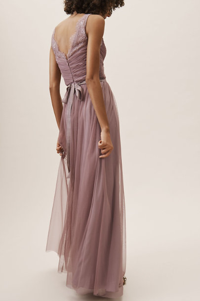 Hitherto Violet Grey Fleur Dress | BHLDN