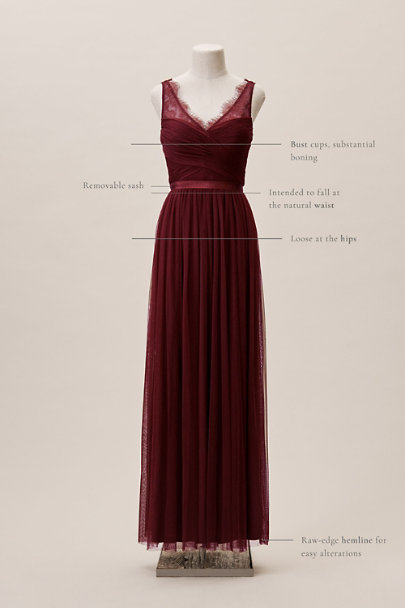 Hitherto Bordeaux Fleur Dress | BHLDN
