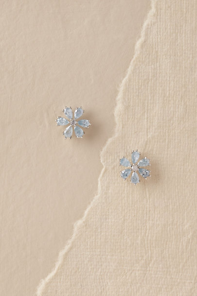 Theia Jewelry Blue/White Gold Luci Earrings | BHLDN