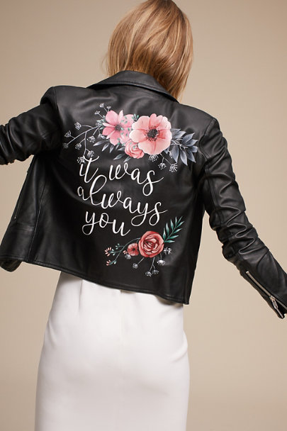 Hide and Rose Black Always You Leather Jacket | BHLDN