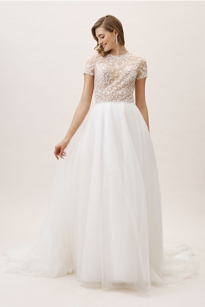 Whispers & Echoes Ivory/Nude Bradshaw Gown | BHLDN