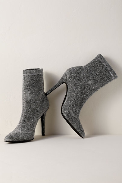 Charles David Silver Charles by Charles David Puzzle Stretch Booties | BHLDN