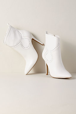 Charles By David Plot White Bootie