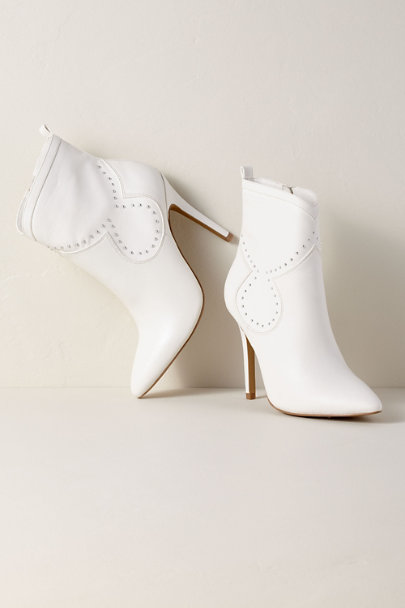 Charles David White Charles by Charles David Plot White Bootie | BHLDN