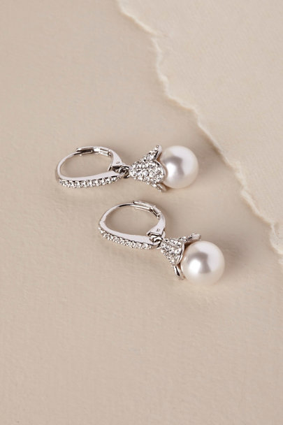 Nadri Silver Nastasia Drop Earrings | BHLDN