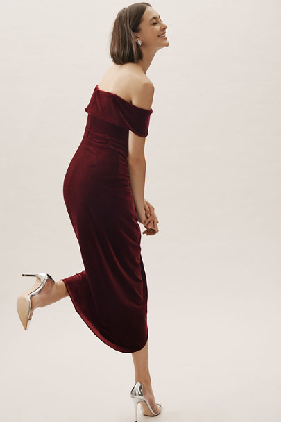 1c44318697 Edison Velvet Dress Burgundy in New