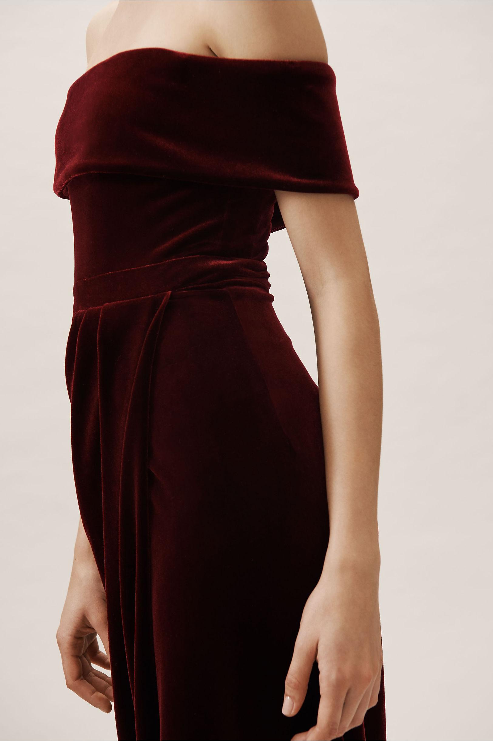 dc2e25637e93 Edison Velvet Dress Burgundy in New
