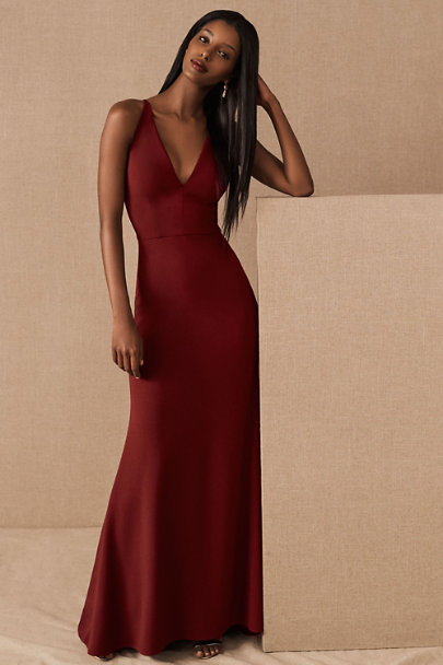 BHLDN Bordeaux Jones Dress | BHLDN