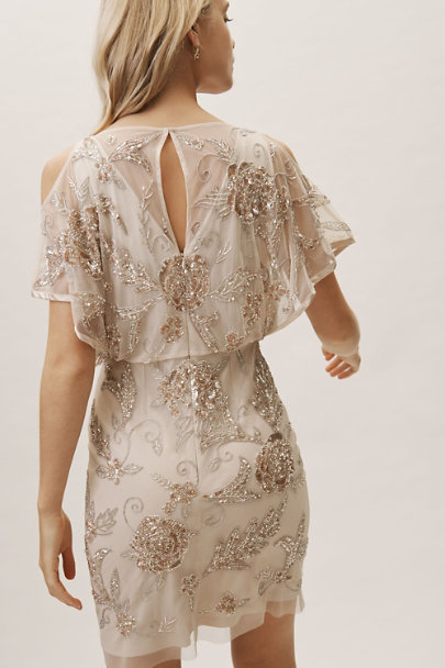 Aidan Mattox Champagne Garrison Dress | BHLDN
