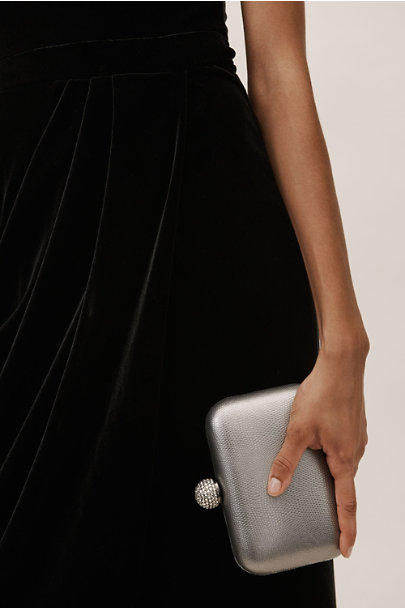 Whiting & Davis Silver Fiona Clutch | BHLDN