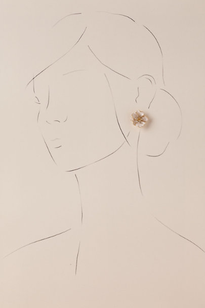 White Sabina Earrings | BHLDN