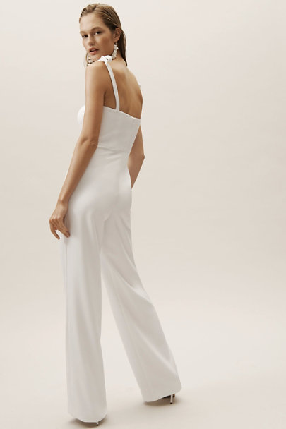 Theia Ivory Trinity Jumpsuit | BHLDN