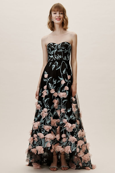 Marchesa Notte Black Daveney Dress | BHLDN