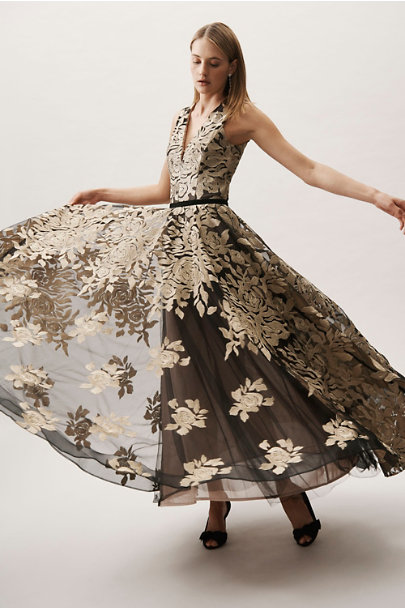 Bronx & Banco Gold/Black Golden Rose Ballgown | BHLDN